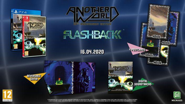 Another World und Flashback: Compilation für PS4 und Switch angekündigt