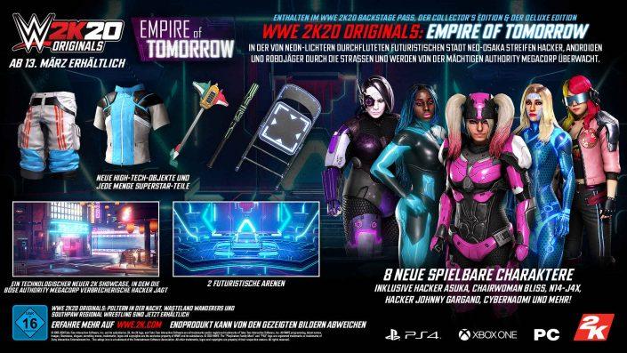 """WWE 2K20: Futuristisches DLC-Paket """"Empire of Tomorrow"""" veröffentlicht"""