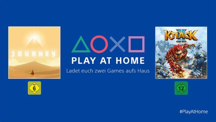 """PS4: Sony startet """"Play At Home""""-Initiative mit zwei Gratis-Titeln"""
