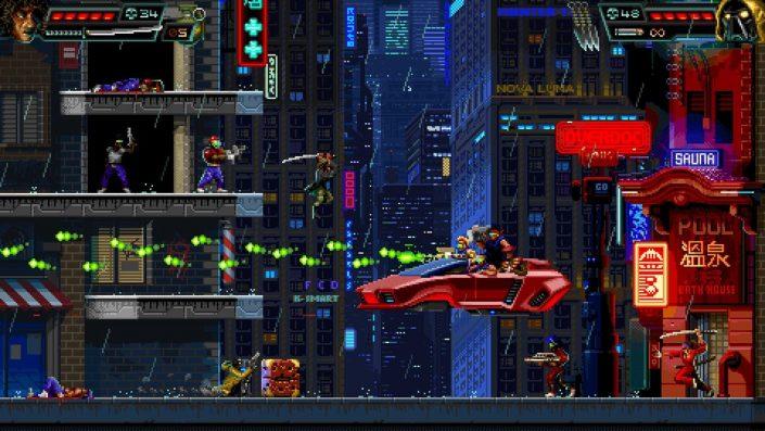 Huntdown: Von 80ern inspirierter Pixel-Arcade-Shooter hat einen Termin und frischen Trailer