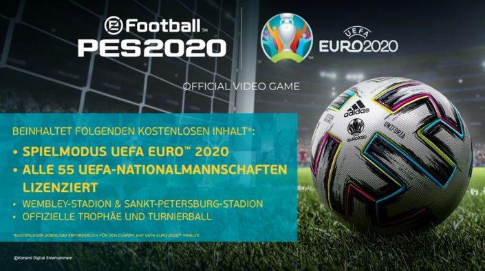 PES 2020: UEFA Euro 2020 und Data Pack 7.0 zum Download