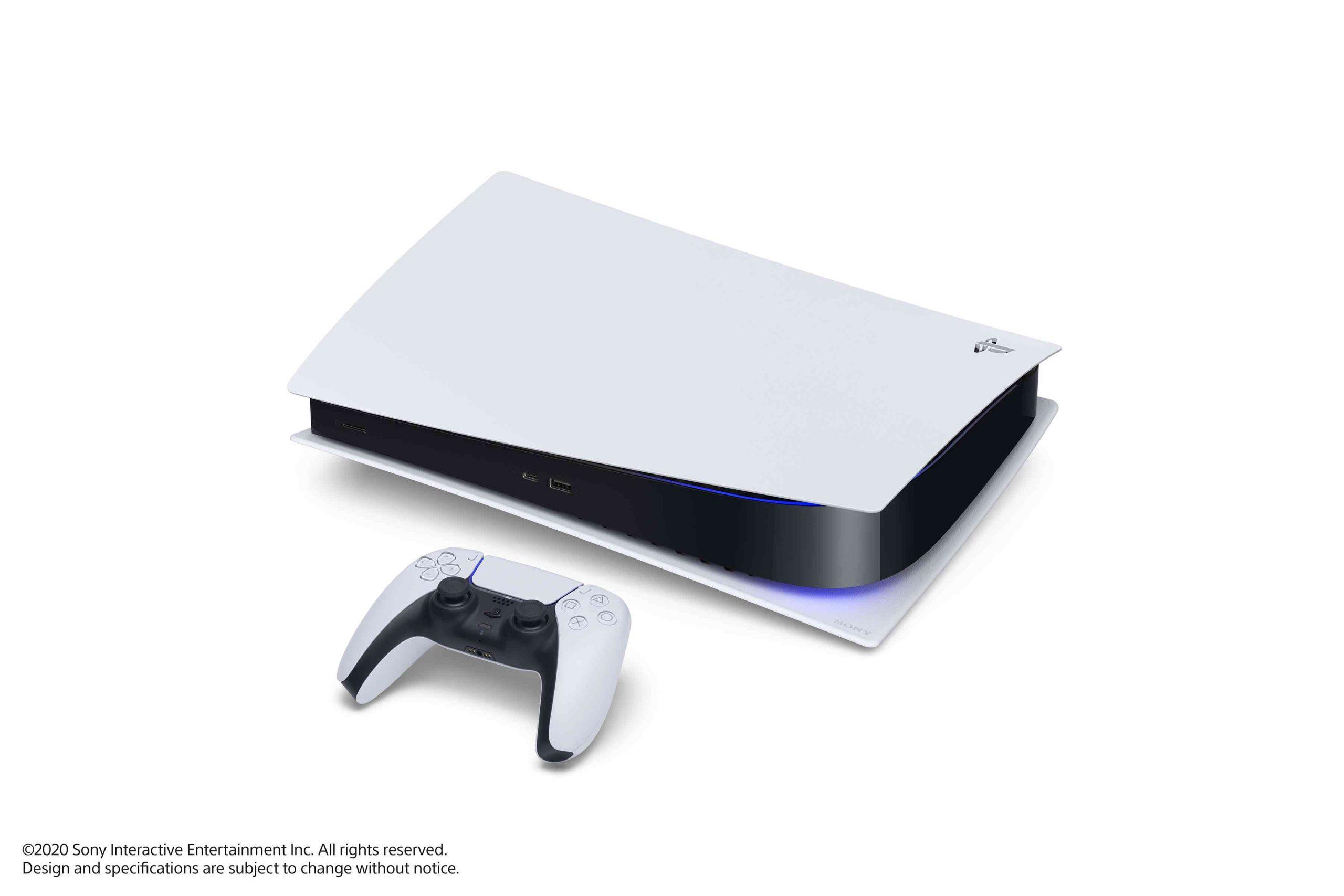 PS5 – Konsole liegend mit DualSense – Bild 11