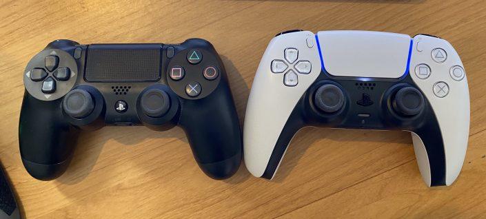 DualSense: PS5-Controller im Größenvergleich mit DualShock 4