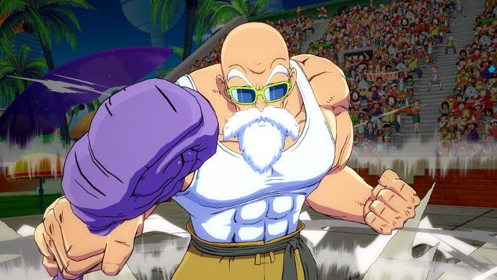 Dragon Ball FighterZ: Muten-Roshi zeigt sich auf Screenshots in Aktion