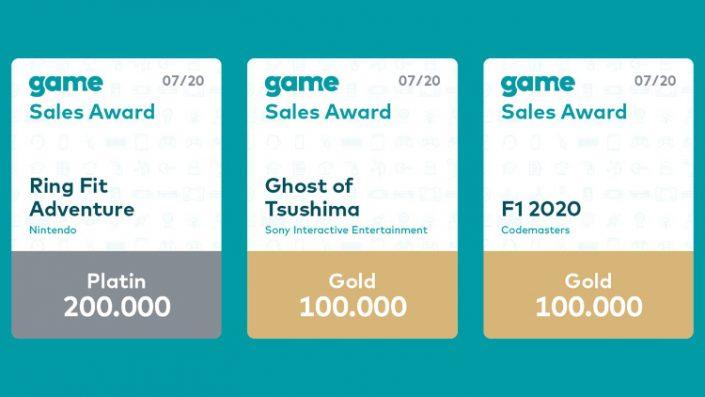 Game Sales Awards: Auszeichnungen für Ghost of Tsushima und F1 2020