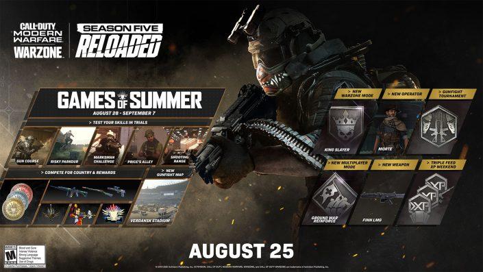 """Modern Warfare und Warzone: Update """"Season 5 Reloaded"""" veröffentlicht – Games of Summer und mehr"""