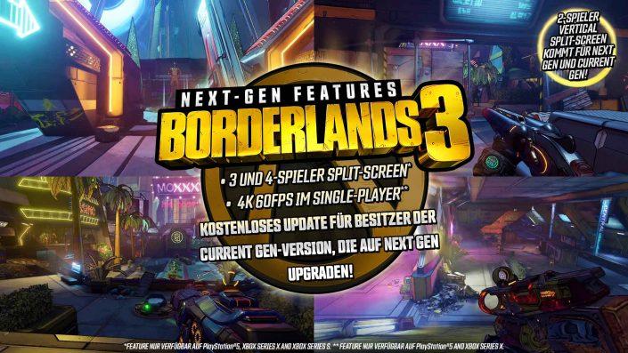 Borderlands 3: Next-Gen-Upgrade für PS5 und Xbox Series X angekündigt