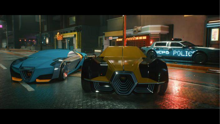 Cyberpunk 2077: Zu Beginn des Spiels lassen sich keine Fahrzeuge stehlen
