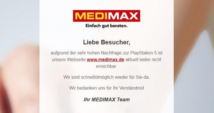 PS5 kaufen: Medimax scheint die letzte Hoffnung zu sein – Update