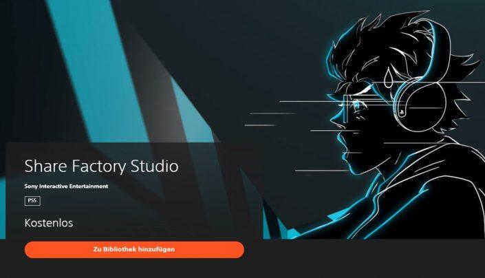 PS5: Share Factory mit 4K HDR-Support veröffentlicht