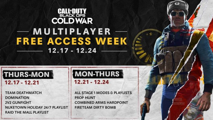 CoD Black Ops Cold War: Multiplayer kostenlos testen und Double XP-Event