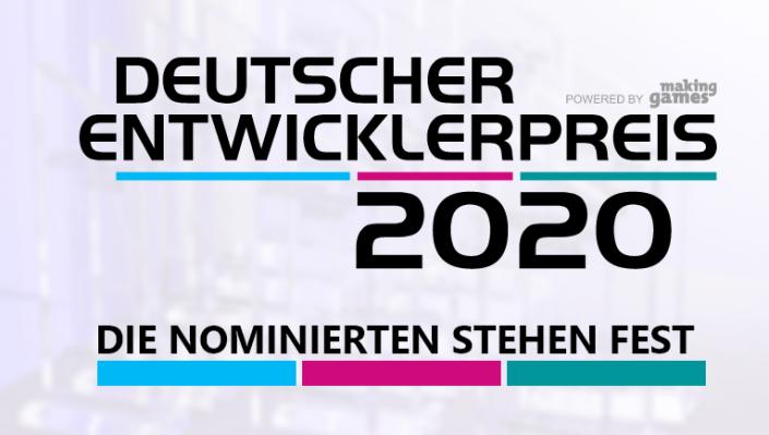 Deutscher Entwicklerpreis 2020: Die Nominierten in der Übersicht