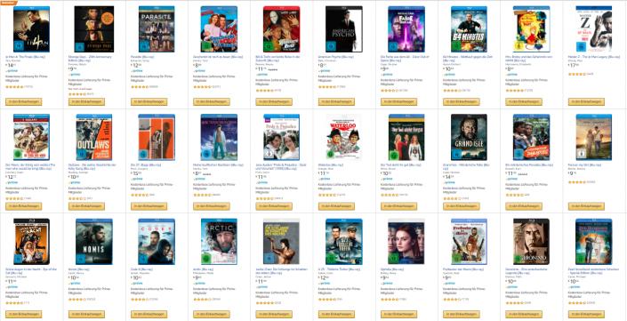 Amazon: Drei Blu-rays für zusammen 18 Euro und Star Wars-Angebot