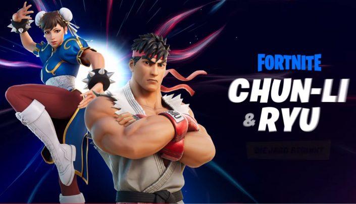 Fortnite: Ryu und Chun-Li aus Street Fighter kämpfen mit