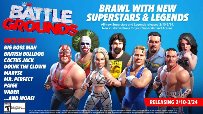 WWE 2K Battlegrounds: Mr. McMahon, Paige und Ricky Steamboat kommen – Neues Roster-Update