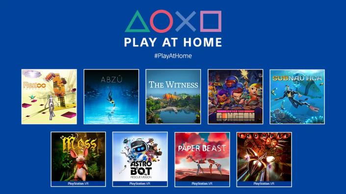 Play at Home: Neun PS4- und PSVR-Spiele ab heute zum Gratis-Download