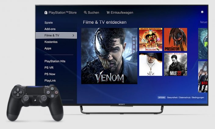 PlayStation Store: Verkauf und Verleih von Filmen und TV-Angeboten wird eingestellt
