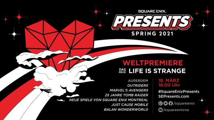 Square Enix Presents: Livestream mit Life is Strange, Outriders und mehr ab 18 Uhr