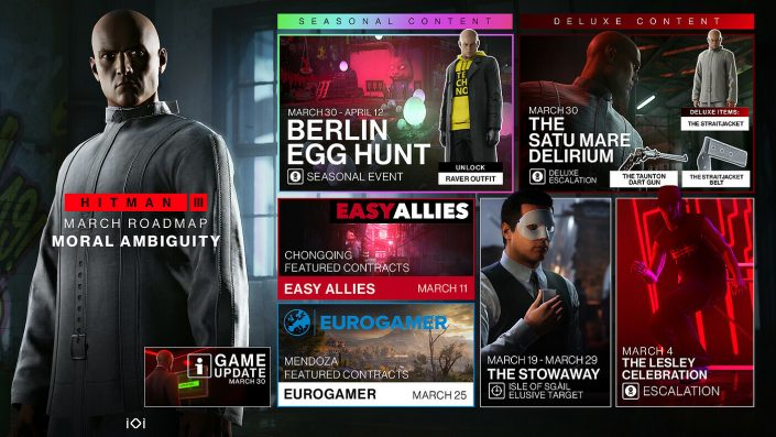 "Hitman 3: März-Roadmap stellt das saisonale Event ""Berlin Egg Hunt"" vor"