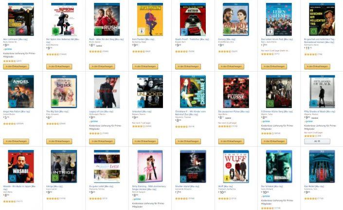 Amazon: 10 Blu-rays für 50 Euro im Angebot