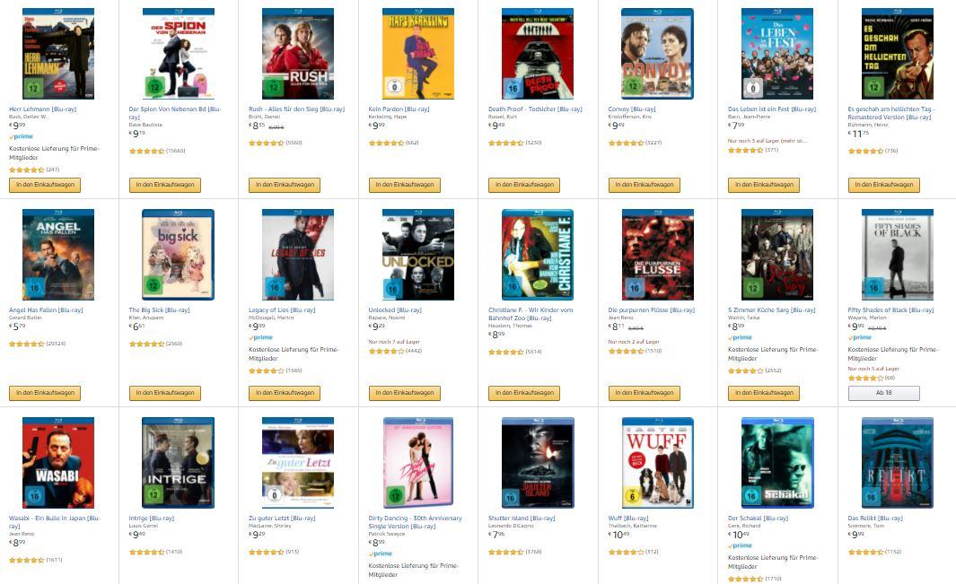 Amazon Blu-rays