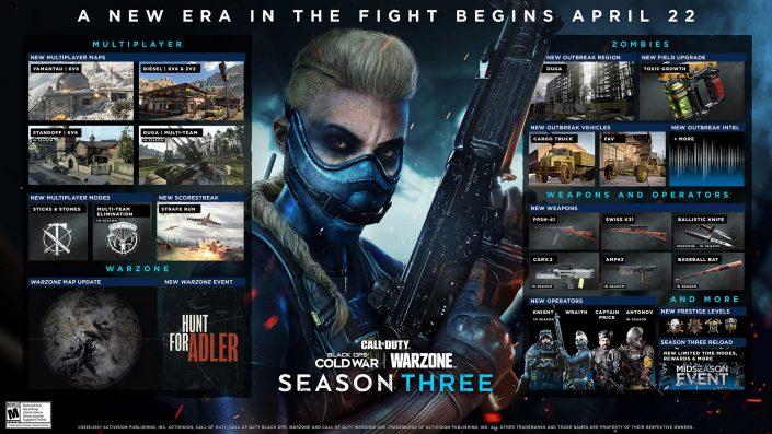 CoD Black Ops Cold War & Warzone: Season 3 enthüllt – Operator, Waffen, Maps und mehr
