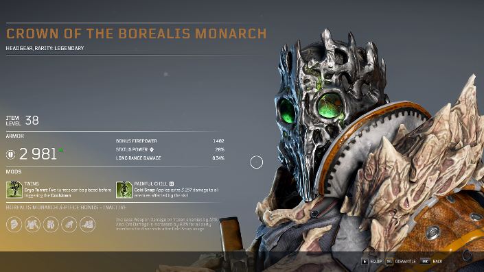 Outriders – Technomant Borealis Monarch-Set