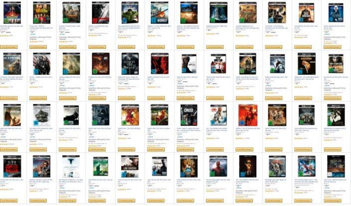 Amazon: Vier 4K-UHD-Blu-rays für 50 Euro im Angebot