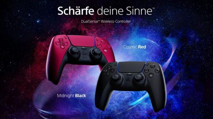 DualSense: Midnight Black und Cosmic Red vorbestellbar