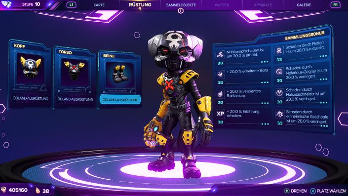 Ratchet & Clank Rift Apart – Ödland Ausrüstung