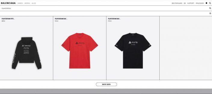 Sony x Balenciaga: PlayStation-Kollektion verfügbar – T-Shirts kosten mehr als 500 Euro