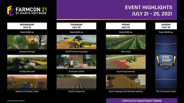 Landwirtschafts-Simulator 22: Gameplay-Premiere auf der FarmCon – Programmplan