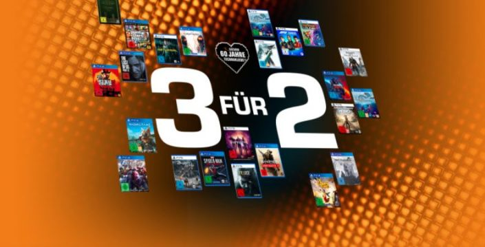 Saturn: 3 für 2-Sale mit PS4- und PS5-Spielen
