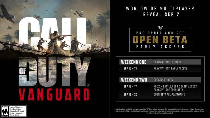 Call of Duty Vanguard: Beta-Termine in der Übersicht