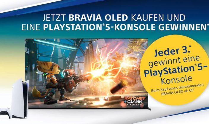 PS5: Verlosung beim Kauf eines BRAVIA OLED-TVs mit hoher Gewinnchance