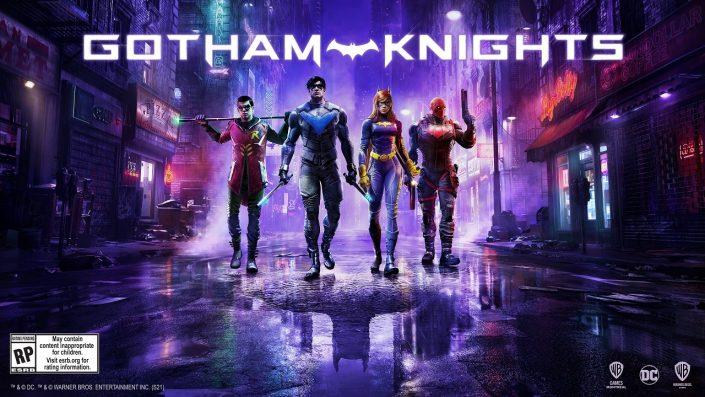Gotham Knights: Key Art zeigt Robin, Batgirl, Nightwing und Red Hood